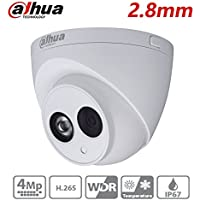 For Dahua IP Camera HDW4431C-A 4MP HD Mini Turret Dome Network Camera PoE Built-in Mic IP67 Night Version IR 50M 2.8mm Lens