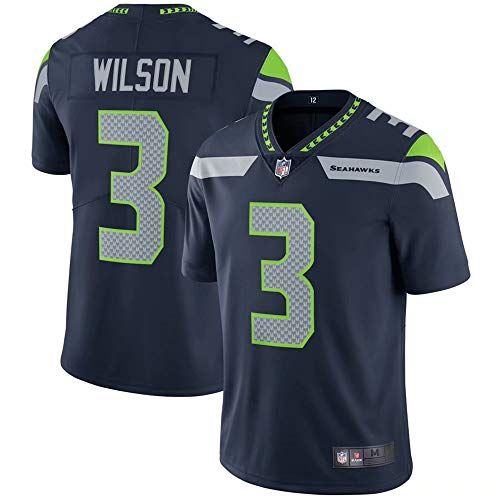 Men's #3 Russell Wilson Seattle Seahawks Untouchable Limited Player Jersey - College Navy XL (Best Looking College Football Players)