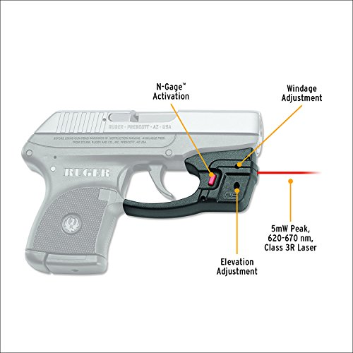 Crimson Trace DS-122 Defender Series Accu-Guard Red Laser Sight for Ruger LCP Pistols by Crimson Trace (Image #1)