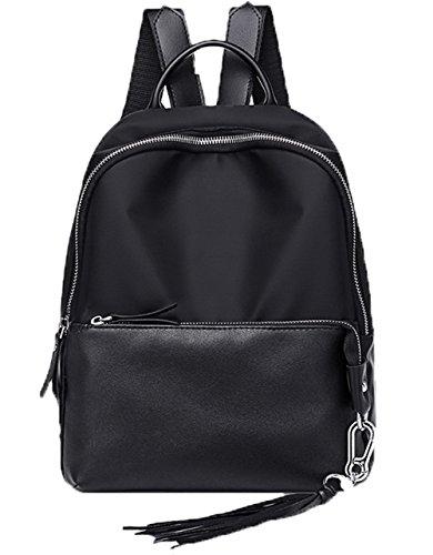 Noir Dacron Noir à Zippers Odomolor École Sacs Voyage bandoulière Femme z8x4WAqw5F