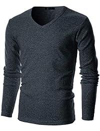b217a74fdb53d9 Mens Slim Fit Soft Cotton Long Sleeve Lightweight Thermal Crew Neck T-Shirt