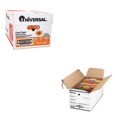 KITUNV21200UNV751204 - Value Kit - Universal Economy Storage Box (UNV751204) and Universal Copy Paper (UNV21200)
