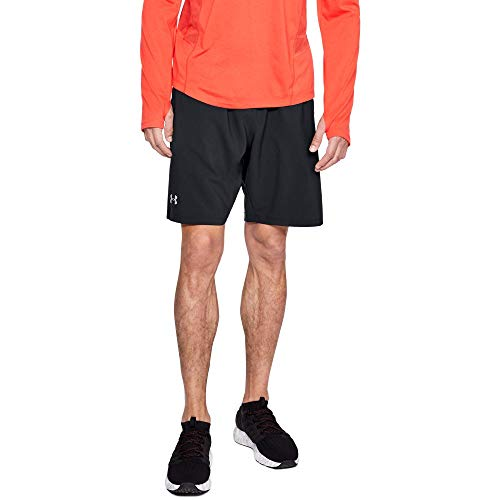 Under Armour Men's Launch 9'' Shorts, Black (013)/Reflective, Small by Under Armour (Image #1)