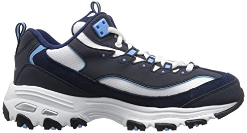 Skechers Blue Sneaker White Damen BKW Extreme Navy D'Lites Light 11422 rqXzZwr
