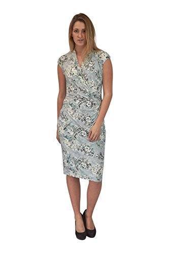 Per Una Blue Floral Jersey Wrap Dress Size - Womens Marks And Spencer