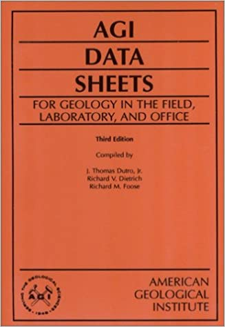 Amazon com: AGI Data Sheets: For Geology in the Field