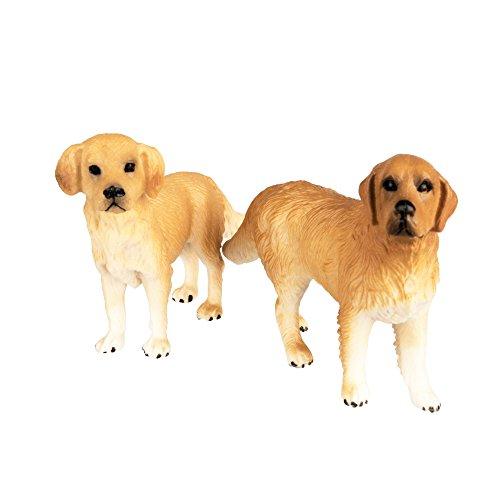 TOYMANY Golden Retriever Figurines, Realistic Dog Toy ()