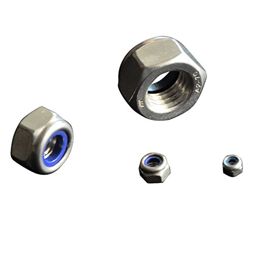 NM Standard Stainless 18-8 #10-32 Fine Nyloc Nylon Insert Locknut