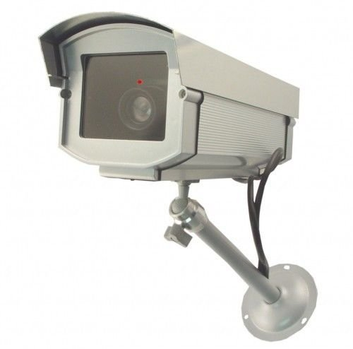 UniquExceptional Outdoor Fake Security Cameras w/ LED Lights
