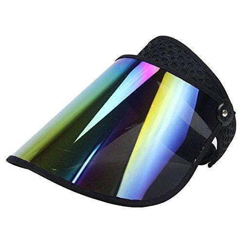 Sun Visor UV Protection HAT Cap Hiking Golf Tennis Outdoor (F-VISOR-NO49R-BLACK)