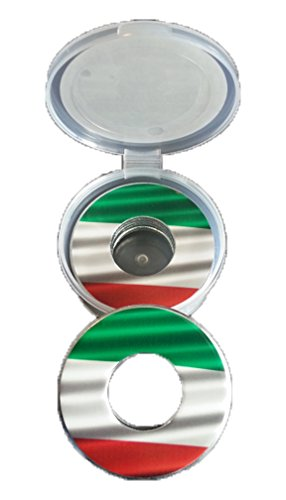 Italian Flag Pitching Washers W/Case by Inkin It Up