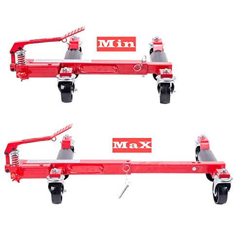 Two Wheel Dolly >> Orion Motor Tech 9 inches Hydraulic Vehicle Auto Wheel Moving Jack Dolly Trolley 2PCS - Vehicle ...