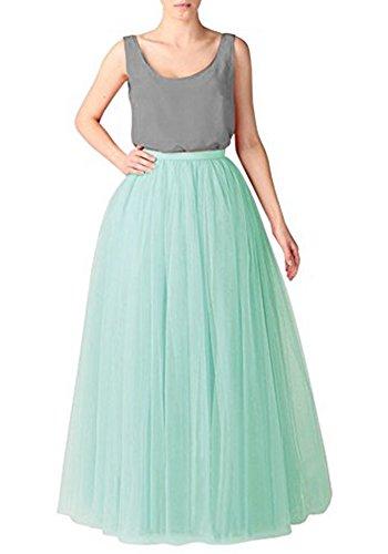 h Tulle Tutu Skirts High Waist Princess Party Dress,Mint ()