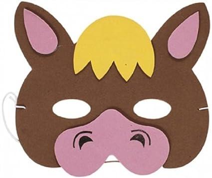 Máscara Animal caballo (espuma suave) fiesta de disfraces - 20015HO