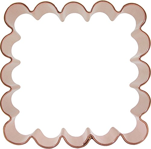 CopperGifts: Scalloped Square Cookie Cutter 3.5-inch