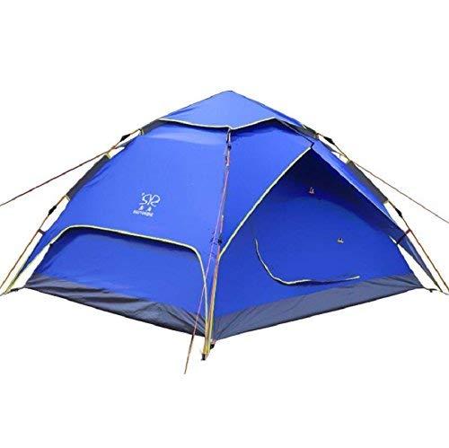 GZZ Guo Outdoor-Produkte Outdoor-Feld Camping Automatische hydraulische Zelte 3-4 Personen Verwenden, Oxford Tuch Wasserdicht Sonnenschutz, Glasfaser-Stangen Stark sicher und Langlebig, Tragbare Zelt