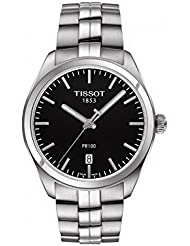 Tissot Mens PR 100 Swiss Quartz Stainless Steel Casual Watch, Color:Silver-Toned (Model: T1014101105100)