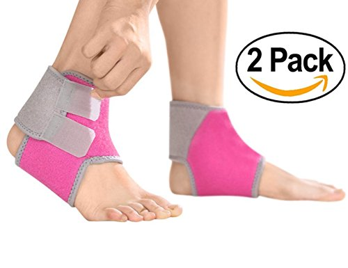 Ankle Brace Support for Kids, Breathable Adjustable Compression Ankle Tendo Foot Support Sleeve Stable Wraps Guard for Running Basketball Ankle Sprain Injuries Relief Joint Pain by Greenery-GRE