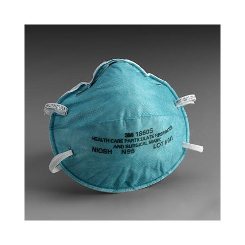 3M 1860S Particulate Respirator and Surgical Mask, Small (Pack of 20)
