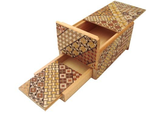 Puzzle Box with Secret Drawer - 5 Sun by Bene Gifts
