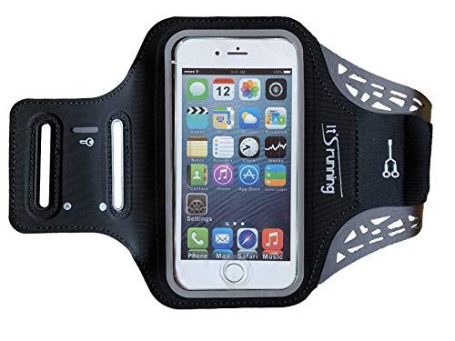 It's Running Phone Arm Band 4 mobiele telefoon armtas smartphone, zwart, Uni