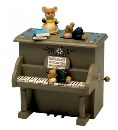 MusicBox Kingdom 44003 Piano with Mice Music Box, Moves t...