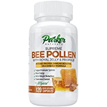 BEST Bee Pollen, Royal Jelly and Propolis - Highest Quality Made by USA Bee Keepers - 120 Vegetarian Capsules - 100% Satisfaction Guarantee or your Money Back!