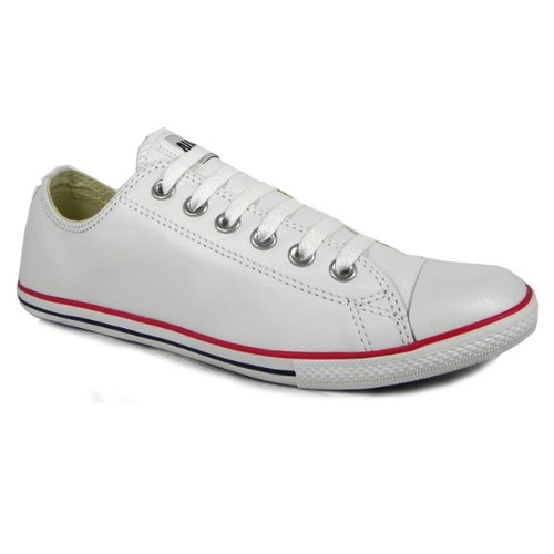 40b4447837e1 Converse All Star Slim Ox Unisex Leather Trainers-White  Amazon.co.uk  Shoes    Bags