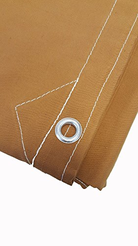 20' x 40' Canvas Tarp 12oz heavy Duty Water Resistant Tan by Mytee