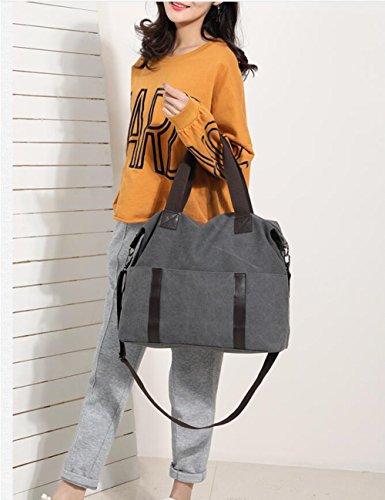 Casual De Lienzo De Lona Cercanías Bolso Elegante De Bolso Señora Fashiongray Simplicidad Bolso Skyblue Hombro waXWvx4Tqx