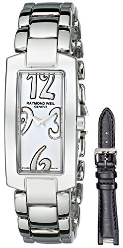 Raymond Weil Women's 1500-ST-05303 Shine Analog Display Swiss Quartz Silver Watch