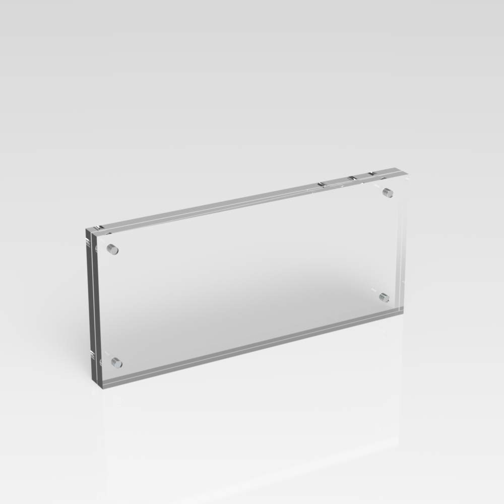 Plexico Photo Bank Note//Money Holder//Acrylic Currency Display Frame//Magnetic Collector Holder