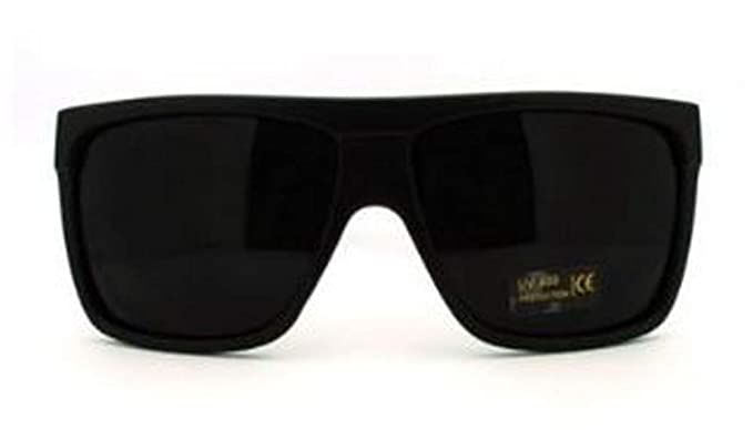 3c2984f49 Image Unavailable. Image not available for. Color: Mens Sunglasses Unique  80's Oversized Flat Top Square Fashion Frame Black