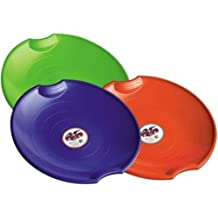 "New Paricon 626 Lot of (6) 26"" Plastic Flying Saucer Snow Sleds Assorted Color"
