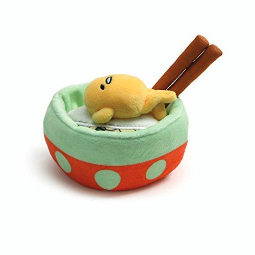 GUND Sanrio Gudetama Lazy Egg Noodle Bowl with Chopsticks Stuffed Animal Plush, 4.5