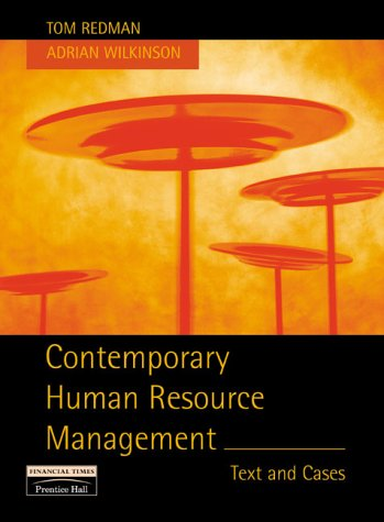 Contemporary Human Resources Management: Text and Cases