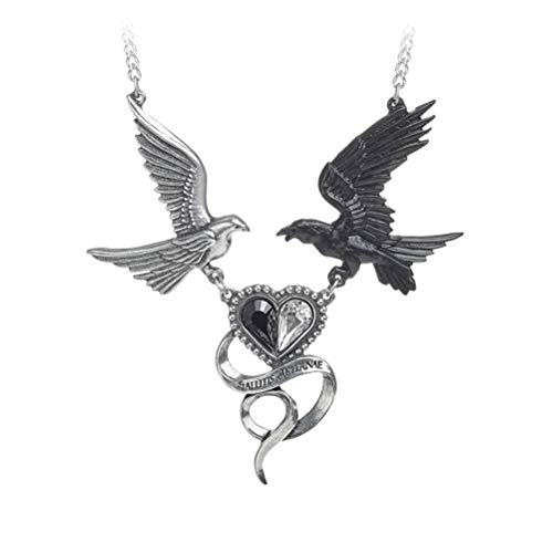 Epiphany Of Pendant & Necklace Pewter Gothic Chain Heart Dove Of Peace