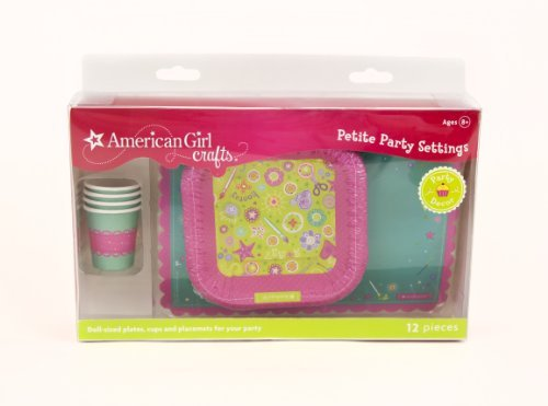 American Girl Crafts Doll Size Plates Cups And Placemats -