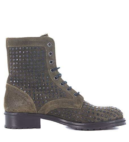 it Verde Delle 36 Lemare Donne Borchie Verde uk Lemare 3 In Biker Pelle ROqfTTzw
