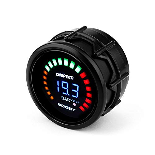 HGJVBFGH1 2 In 1 Oil Pressure Turbo Boost Gauge Oil Temp Water Temperature Gauge Meter Black: Amazon.co.uk: Kitchen & Home