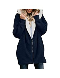 Sunmoot Womens Hoodies Long Coat Plus Size Womens Pullover Hoodie Long Sleeve Oversized Jacket with Pockets