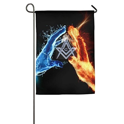 - AnleyGardeflagsU Bright Freemason Logo Square and Compass Spring Lawn Yard House Garden Flags 12x18 inches Semi Transparent Polyester Fiber Decorative