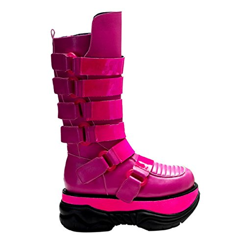 Demonia 310UV Shoes Neptune 11 UV 3 Reactive Cyber Punk 5 Gothic Industrial Platform Boots rprwFTq