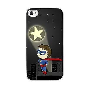 Funda carcasa TPU (Gel) para Apple iPhone 4 4S diseño superhéroe borde blanco