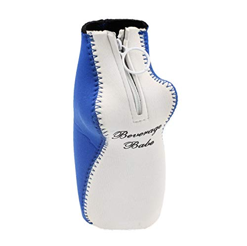 Beverage Babe Zip Up Beer Bottle Holder Koozie with Boobs, Insulated Can Cover