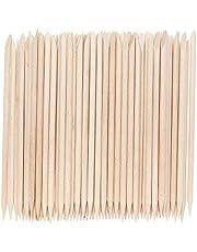 300Pcs Cuticle Pushers Removers Manicure Tools Nail Art Orange Wooden Sticks