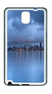Samsung Note 3 CaseSeattle Rainy Dusk TPU Custom Samsung Note 3 Case Cover White