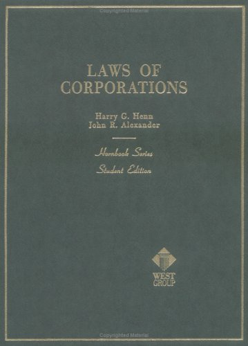 Laws of Corporations and Other Business Enterprises (Hornbooks)