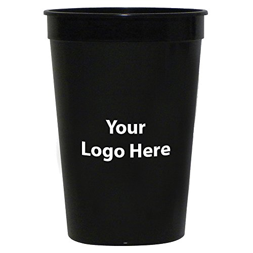Personalized Custom Stadium Cups - Smooth Finish - 250 Quantity - $0.60 Each - Bulk Promotional Product with Your Logo/Customized. 16-Ounce Capacity]()