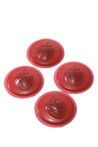 Jarware BPA Free Jelly Jam Lid, Strawberry, 2-Pack (8 Lids)